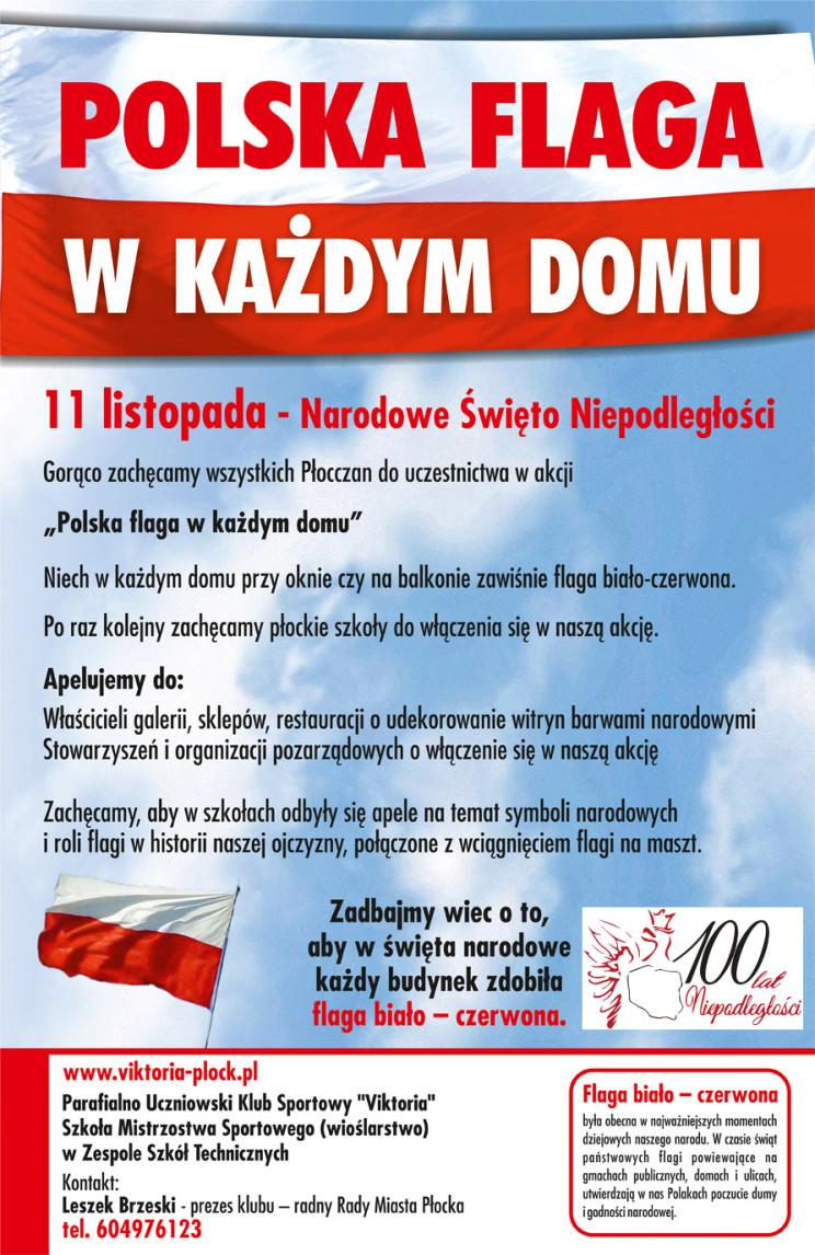 Polska flaga w kazdym domu